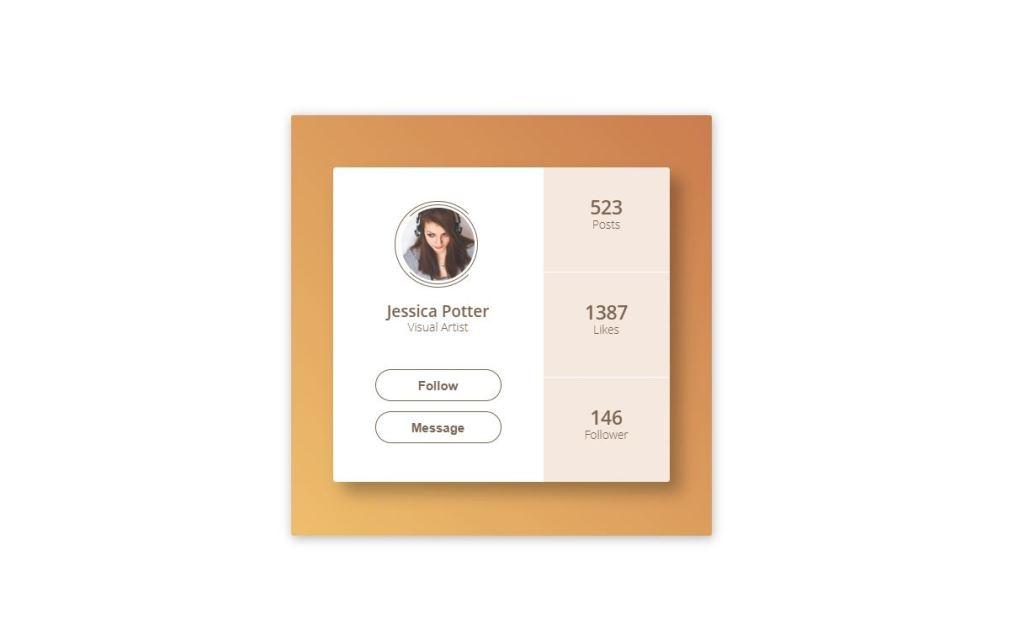 Profile with HTML CSS
