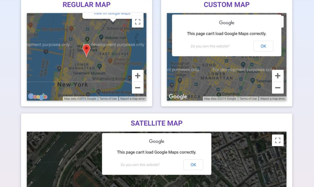 bootstrap google map examples