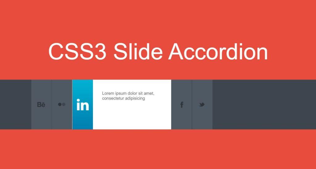 Horizontal CSS3 Accordion