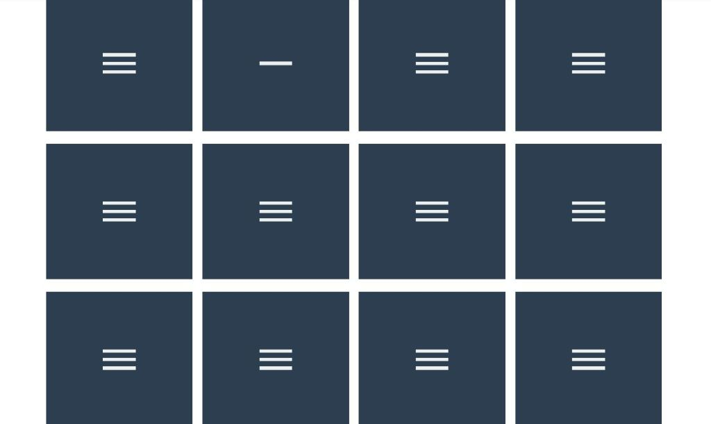 12 JavaScript hamburger menu icon