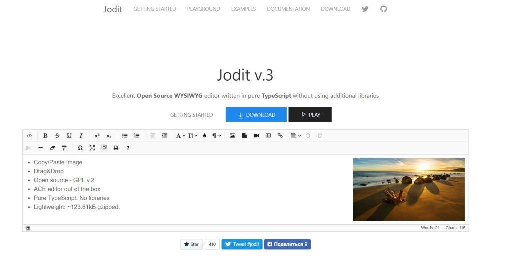 Jodit editor 3