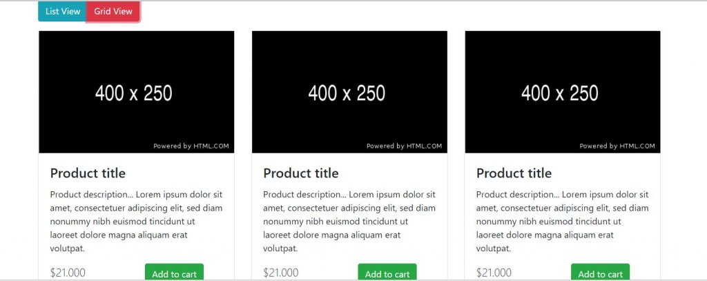 Bootstrap list grid systems