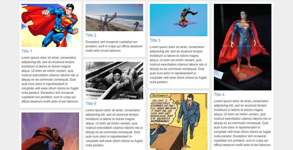 Pinterest Responsive Grid