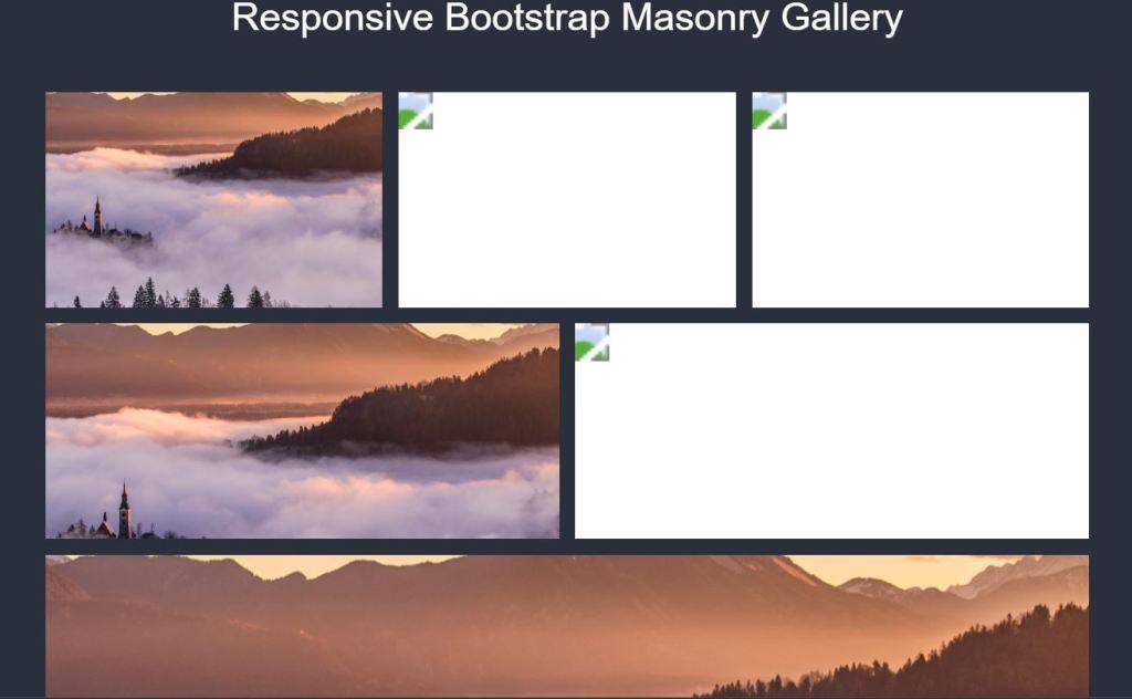 responsive Bootstrap masonry grid