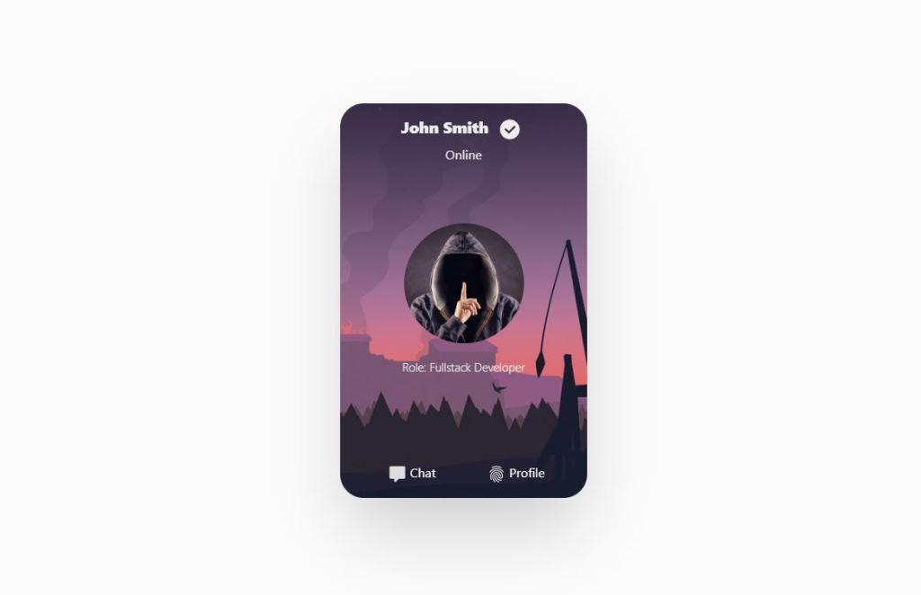 Awesome profile card design