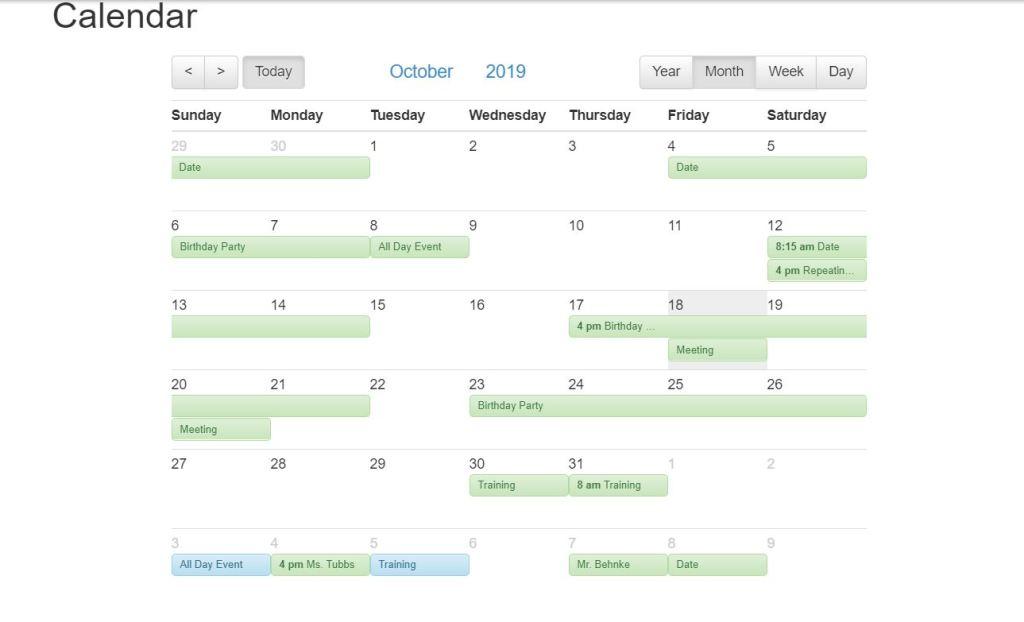 Compatible Bootstrap calendar