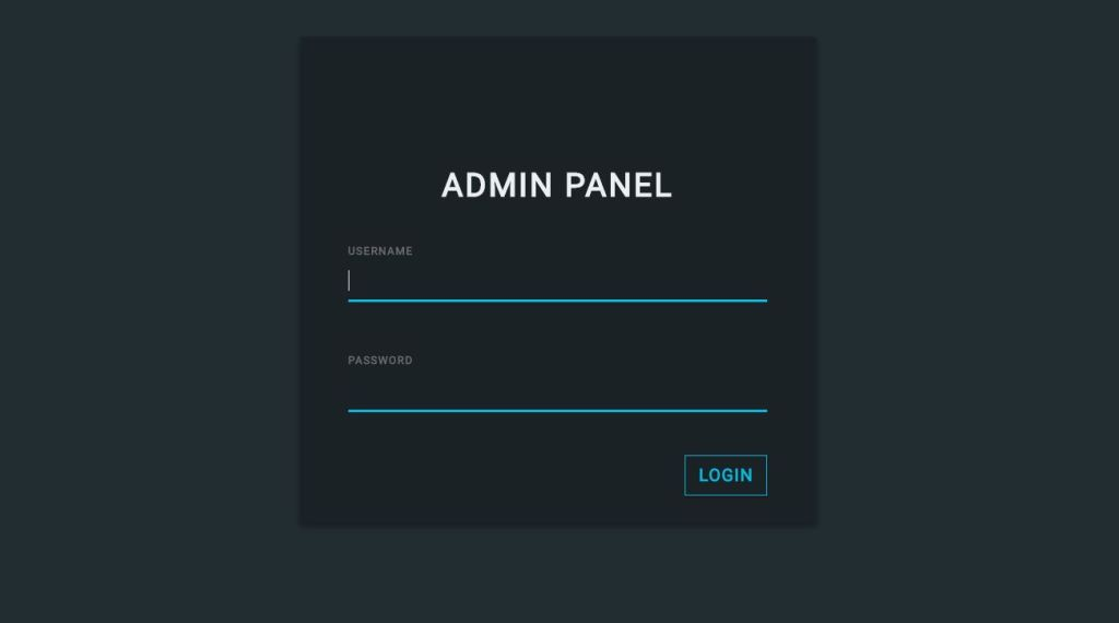 Bootstrap login form page