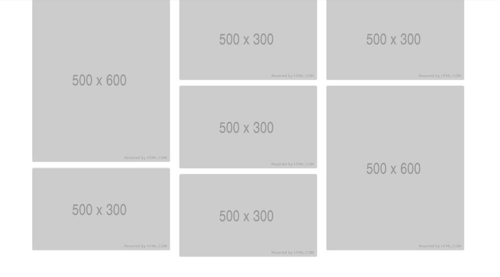 Bootstrap masonry grid example