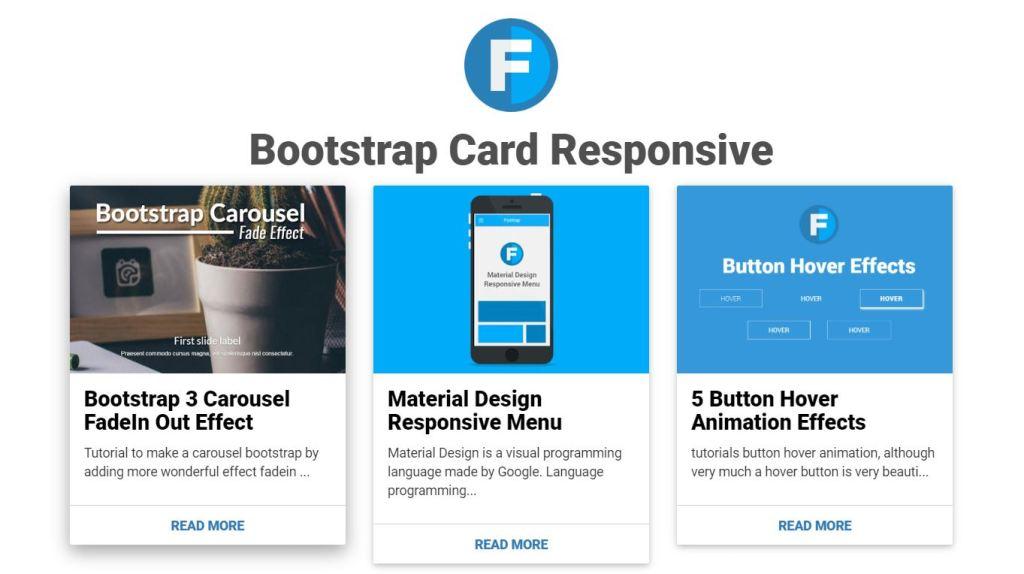 responsive card thumbnail