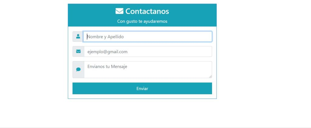 Contact form Bootstrap 4 template