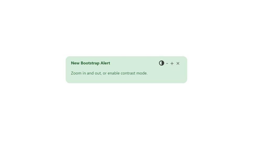 Customizing Bootstrap alert/message box example
