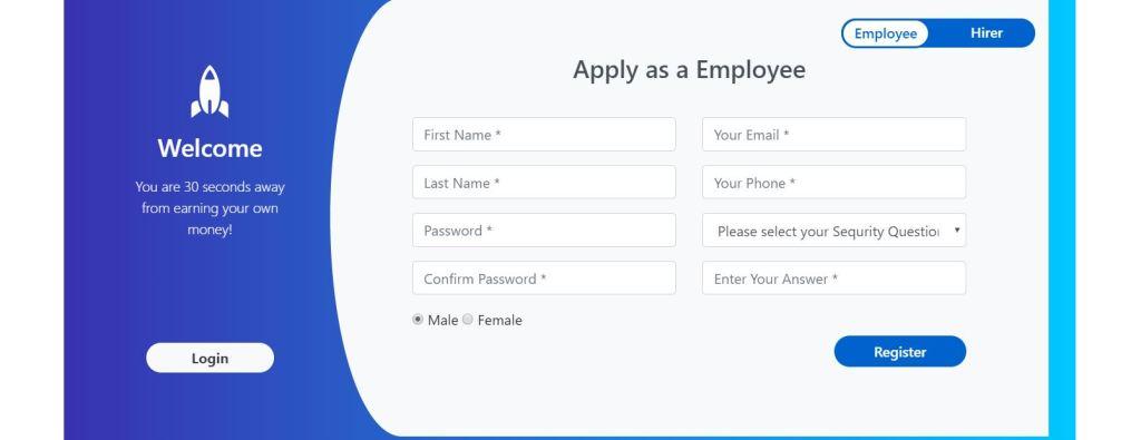 dual design registration form