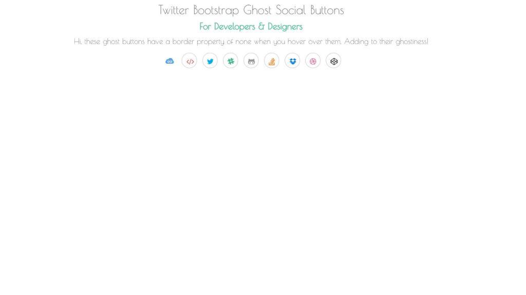 twitter bootstrap social buttons