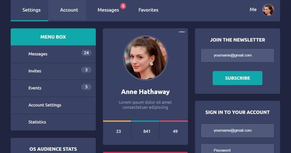freebie interactive flat design