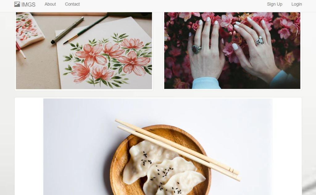 Grid image gallery