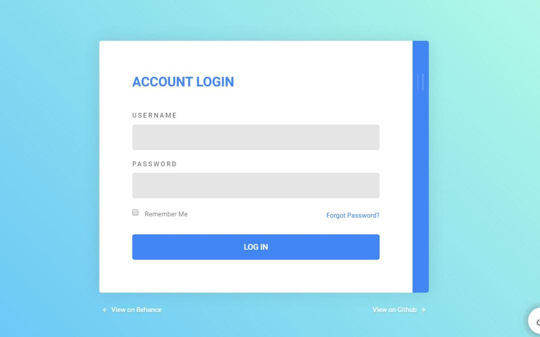 Bootstrap Login Form Examples Snippet