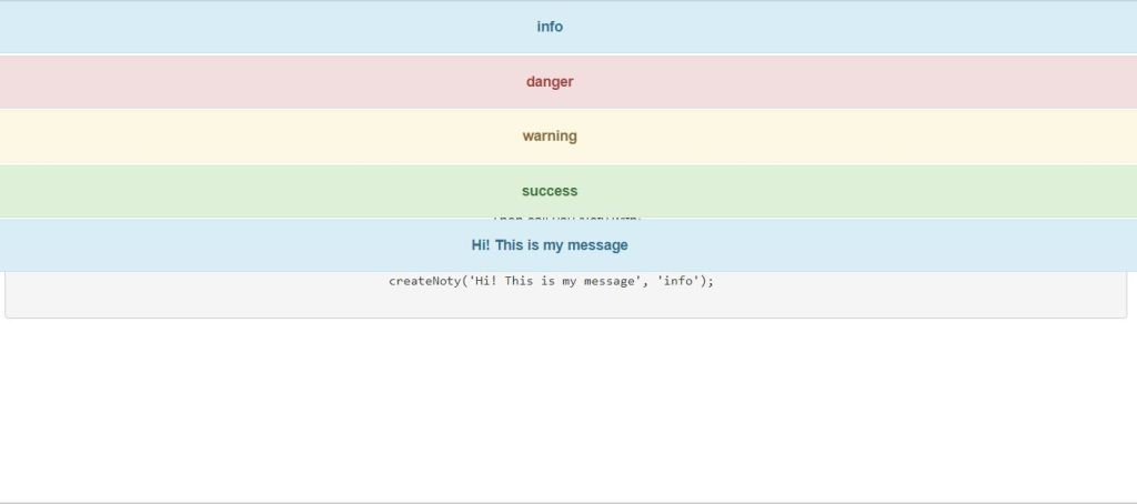 Bootstrap 4 notification example using alerts
