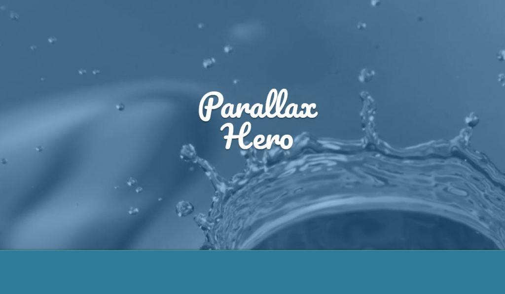 parallax hero