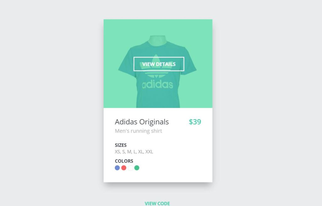 Product card css design