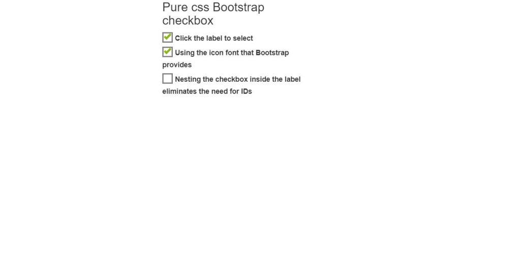 pure CSS Bootstrap 4 checkbox