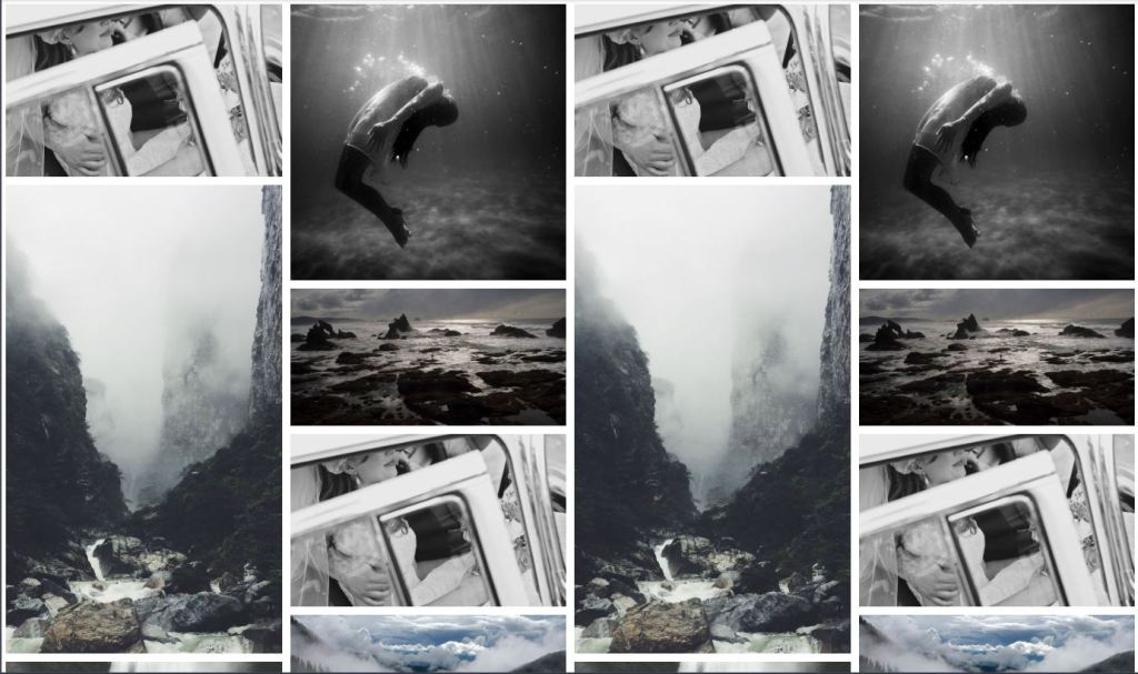 Responsive image gallery with grid format