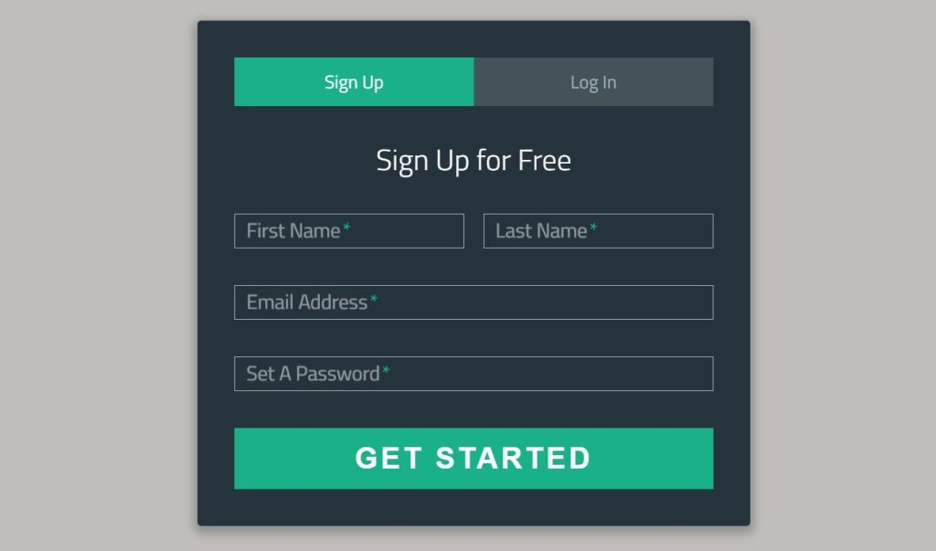 Bootstrap login signup form page