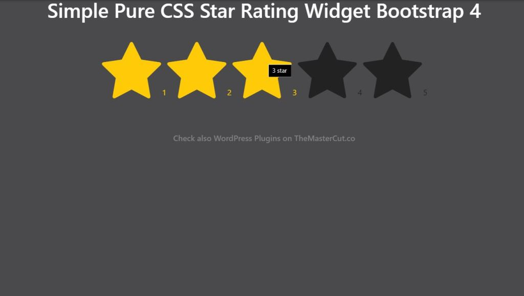 CSS star rating widget bootstrap 4 example