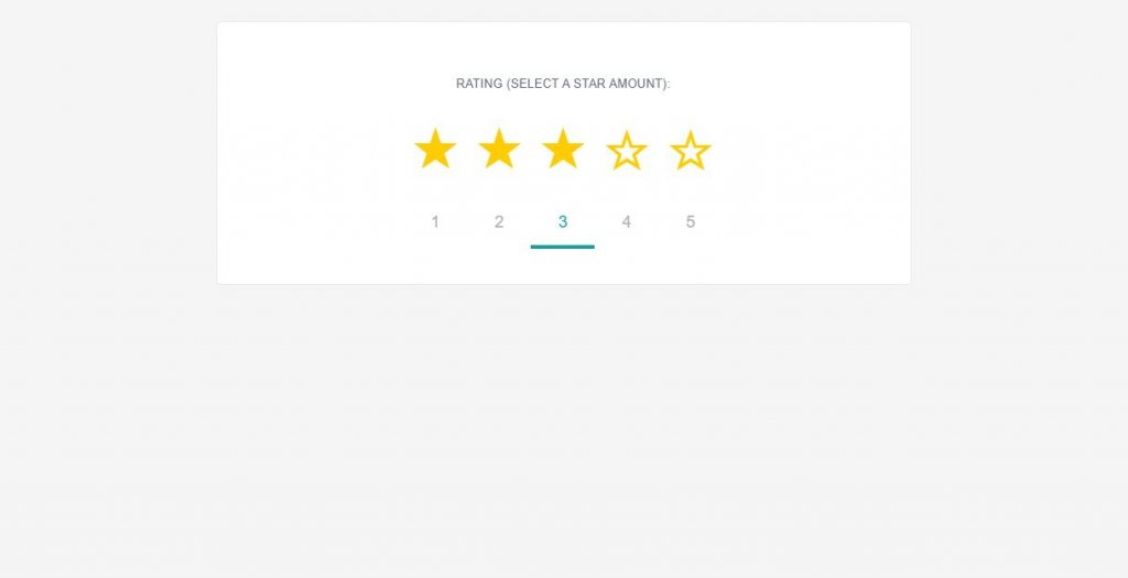 star rating for email