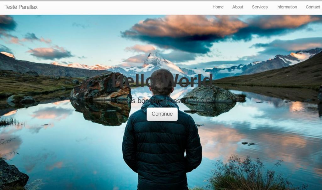 bootstrap parallax effect example