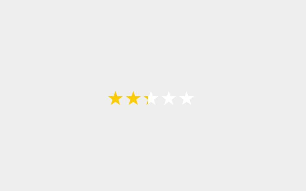 Accessible Bootstrap star rating