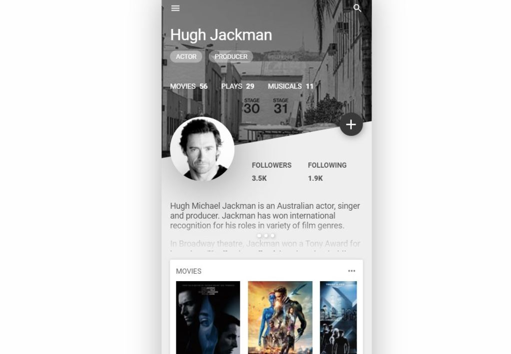 Bootstrap user profile page