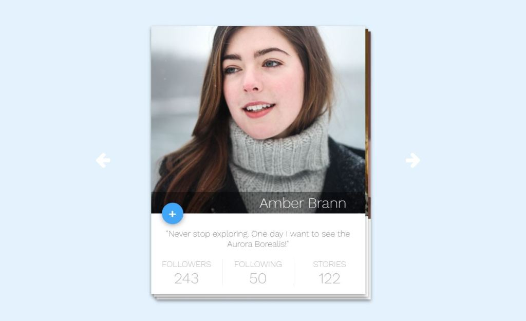 user profile screen