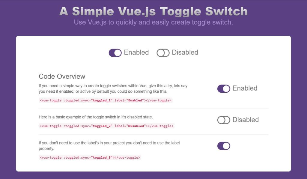 Bootstrap vue toggle status switch