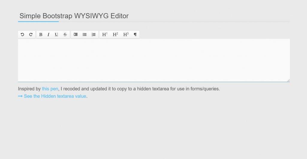 simple bootstrap wysiwyg editor