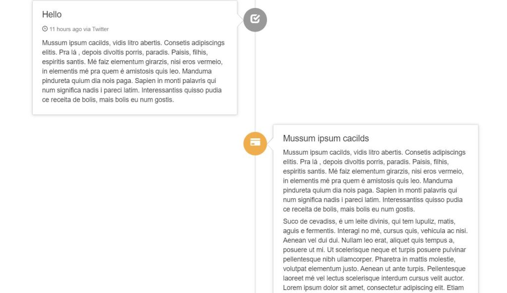 Timeline Bootstrap Example