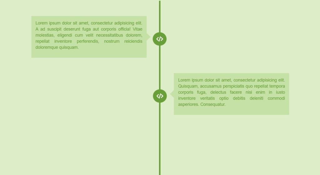 Bootstrap Vertical timeline template