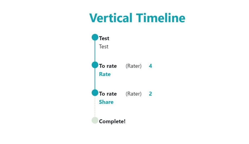Vertical timeline template example
