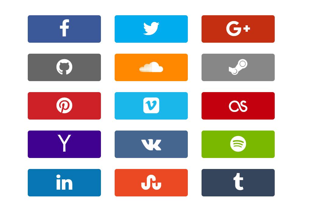 15 Bootstrap SocialMediaIcons