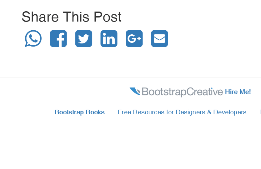 Custom Bootstrap Social Media Icons