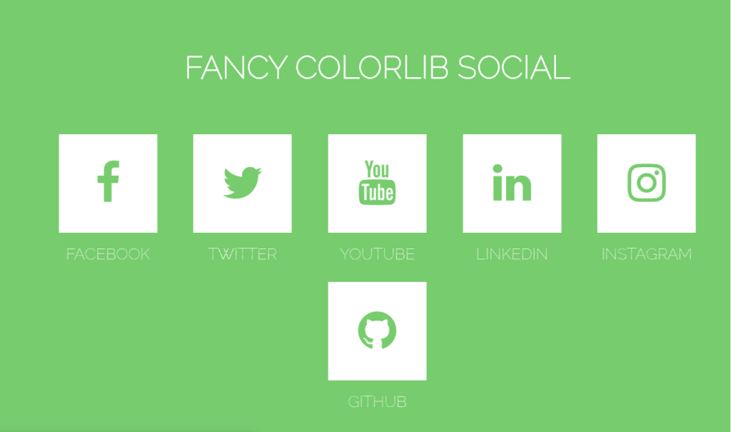 Fancy Animated SocialIcons