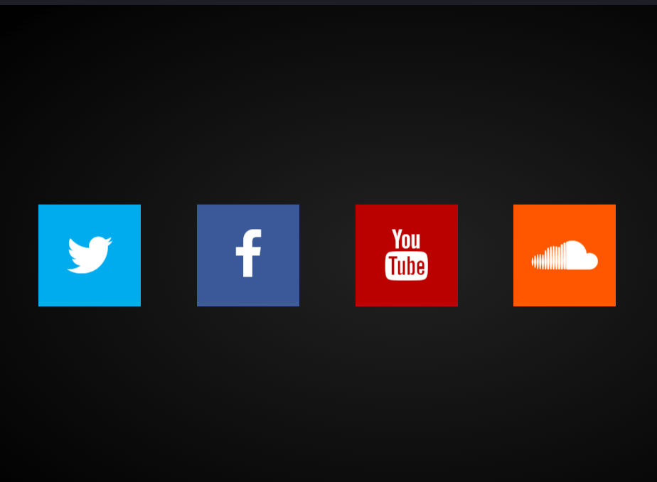Roll Over Bootstrap Social Media Icons