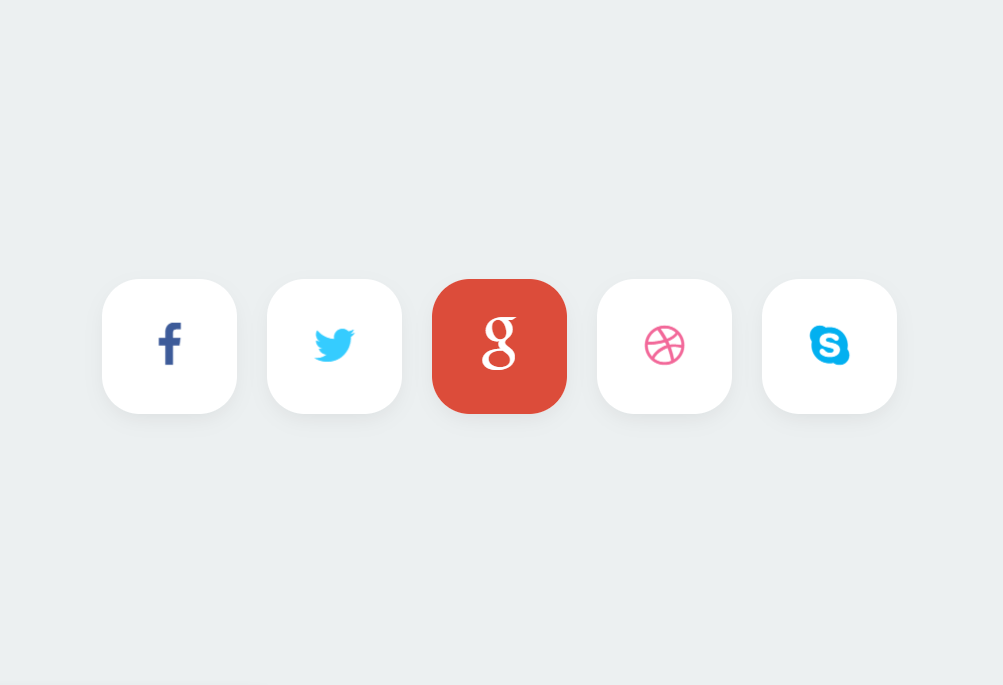 Stylish Bootstrap Social Media Icons