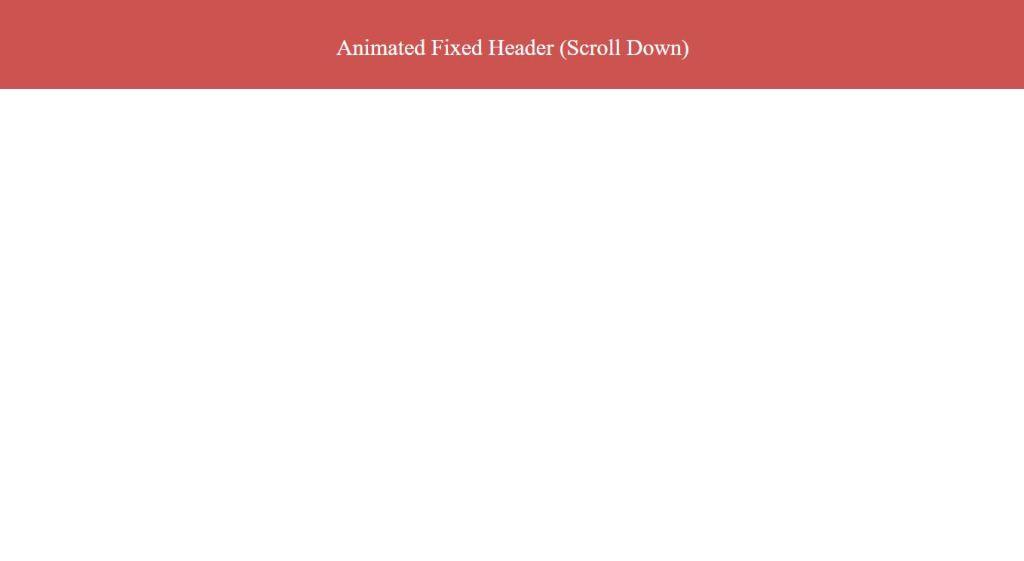 Animated JavaScript Fixed Header