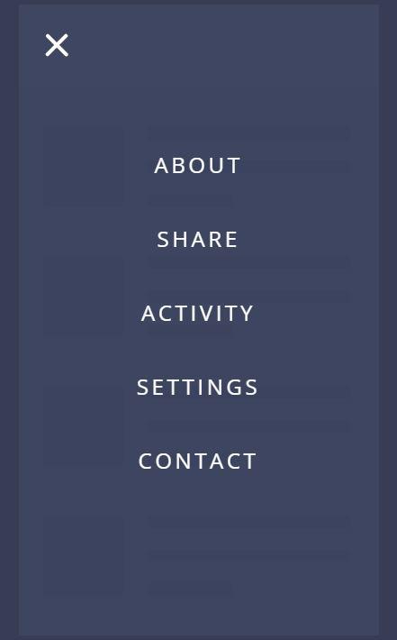 Awesome JavaScript mobile Nav menu example