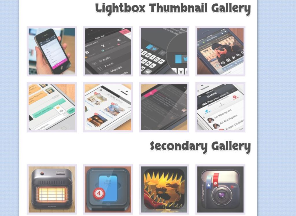HTML5/CSS3 JS Image Thumbnail Gallery with Lightbox Effect