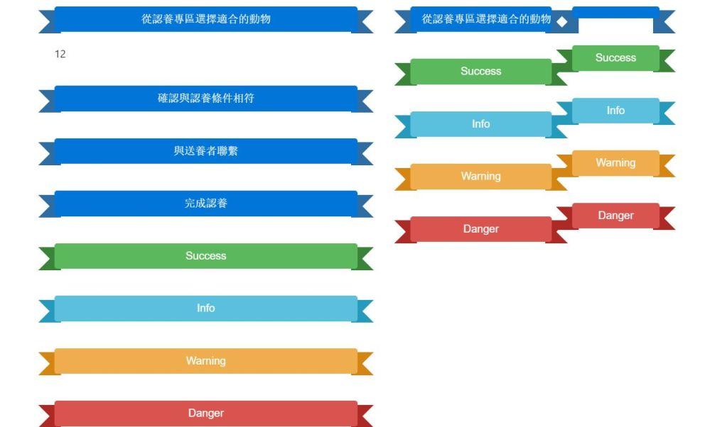 Bootstrap Ribbon Design