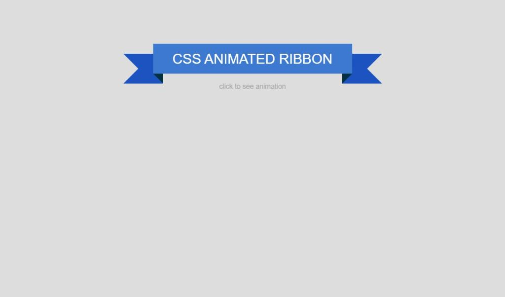 Bootstrap Animated Ribbon Design Example