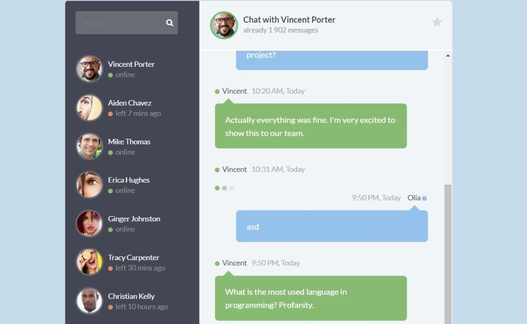 Web Live Chatroom Widget