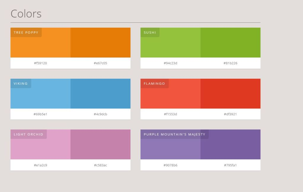 Color Palette Bootstrap Examples