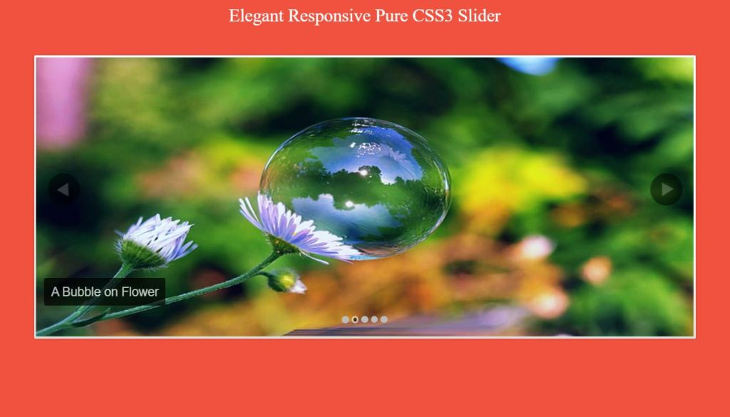 Elegant Responsive Pure CSS3 and JavaScript Slider